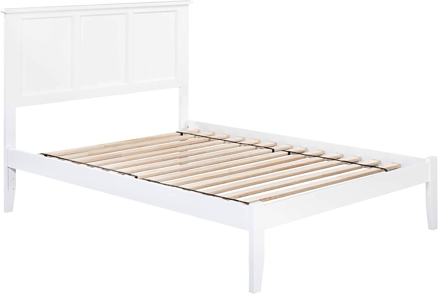Atlantic Furniture Madison Platform Bed with Open Foot Board, Full, White