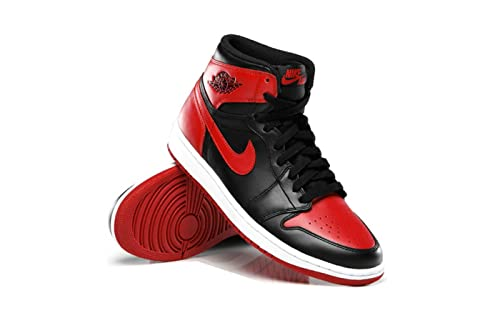 Foot Locker House of Hoops Air Jordan 1 Retro High OG Bred Black Varsity Red c863e7b56