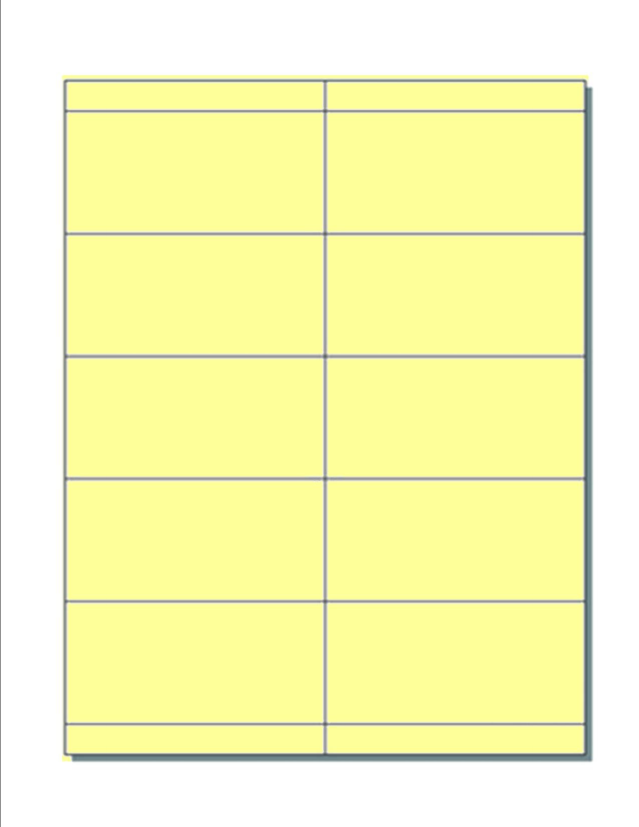 Blank Name Badge Inserts, Print-Ready on 8.5'' x 11'', 67-lb Yellow Vellum, 10 Badges Per Sheet (4.25'' x 2.5'') - 250 Sheets