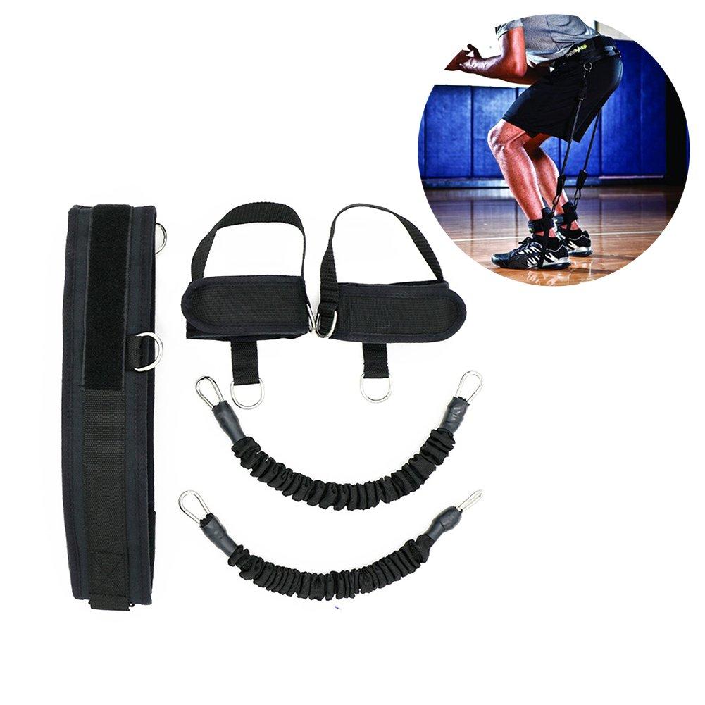 HemeraPhit Vertical Jump Trainer Set Bounce Resistance Band Agility Training Strap (Black)