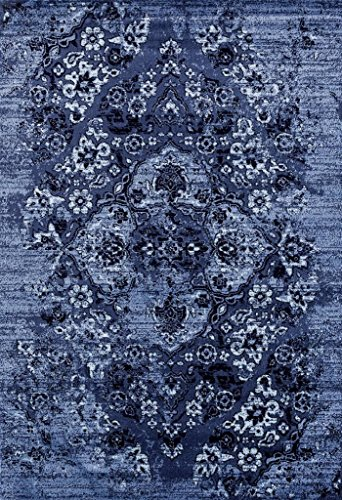 4620 Distressed Denim 8x10 Area Rug Carpet Large New (Best Pets For Rugs Area)