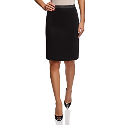 oodji Ultra Women's Pencil Skirt with Elastic Waistband at Women's Clothing store