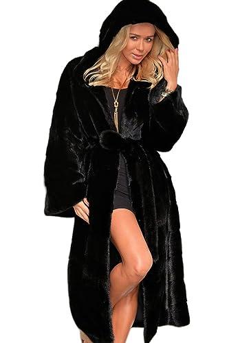 La Mujer De Invierno Ropa De Abrigo Con Capucha De Lana Abrigo De Tweed Con Sólidos De Tamaño Mas
