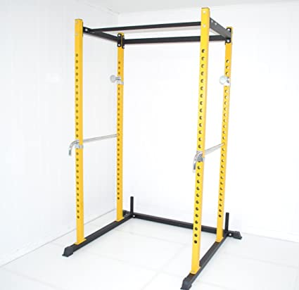 Amazon.com: Yellow / Black Atlas Power Rack Squat Deadlift Cage with Bench Racks: Sports & Outdoors