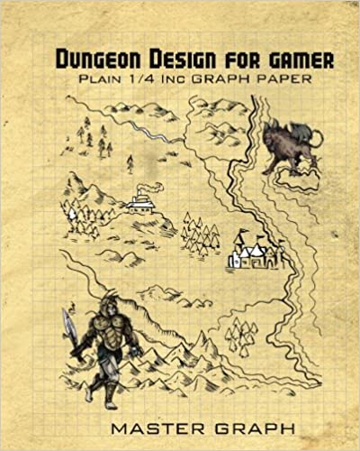 Dungeon Design for gamer: Plain square Graph Paper for board game
