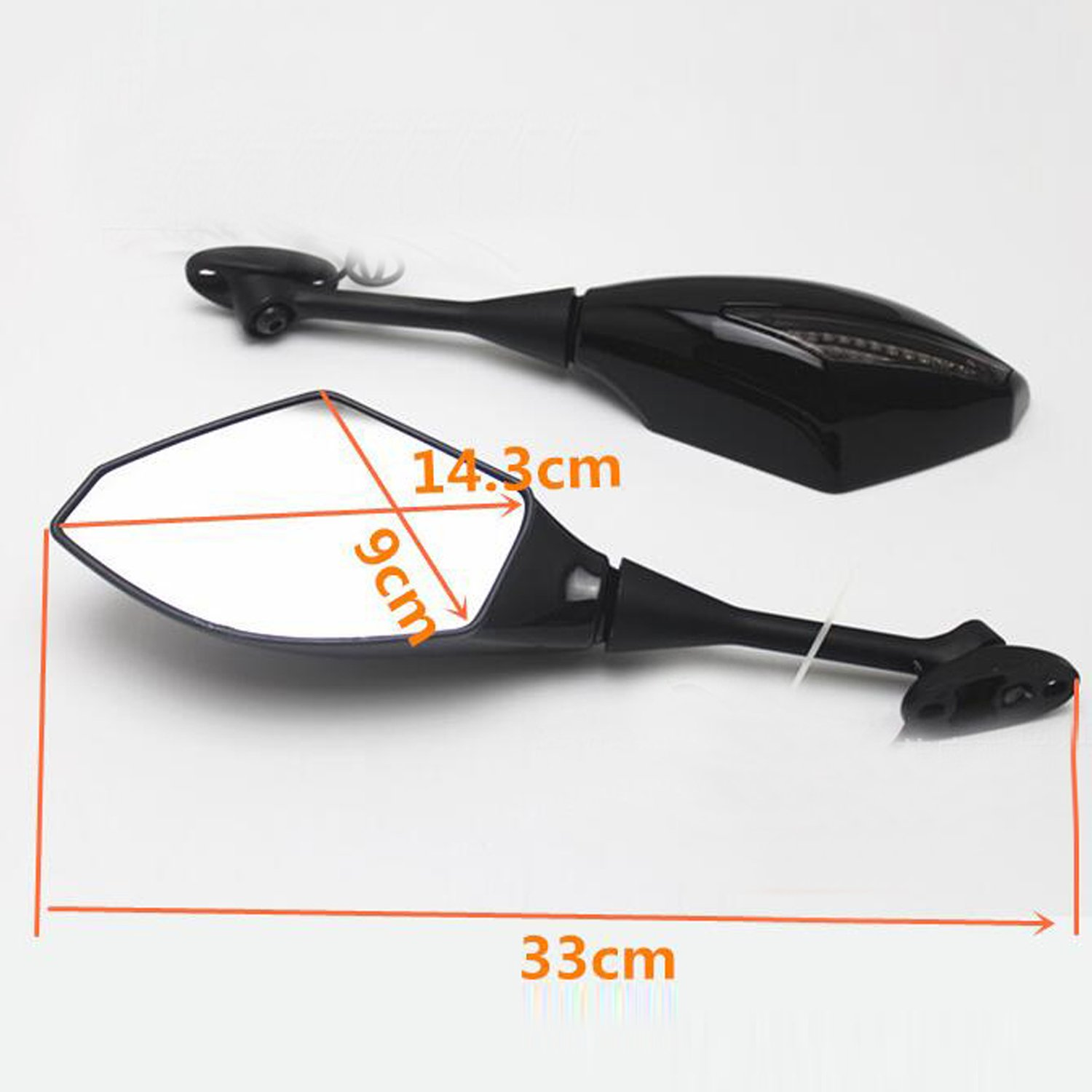 OKSTNO Motorcycle Rearview Side Mirror Turn Signal Mirrors For 2003-2012 Honda Cbr 600Rr 2004-2007 Cbr1000Rr