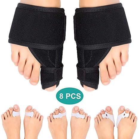 Corrector de juanetes para dedo gordo del pie, kit de férula para juanetes con 6