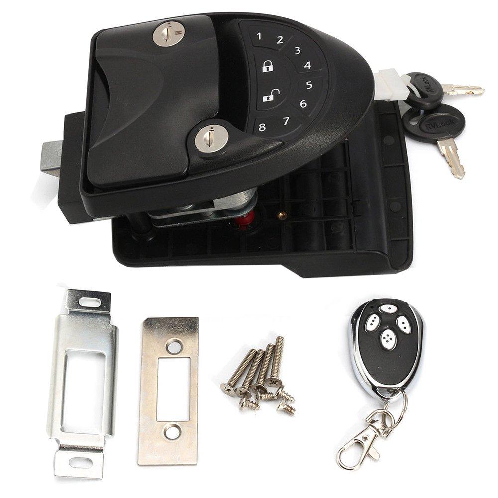 RV Keyless Entry Door Lock Latch Handle Knob Deadbolt Caravan Trailer & Camper Black