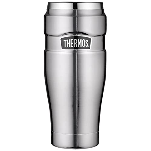 Thermos 4002.248.047Gobelet Isotherme Stainless King, 0,47l, Acier Inoxydable, Acier Inoxydable, 8,4x8,4x19,8 cm