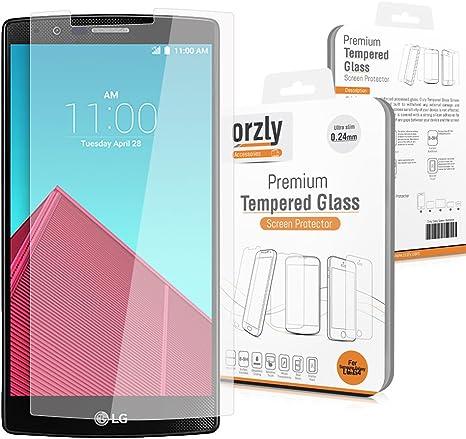 Orzly® - LG G4 Prima Cristal Templado Protector de Pantalla - 0,24mm Protectora para LG G4 Smartphone/Teléfono Móvil (2015 Modelo): Amazon.es: Informática