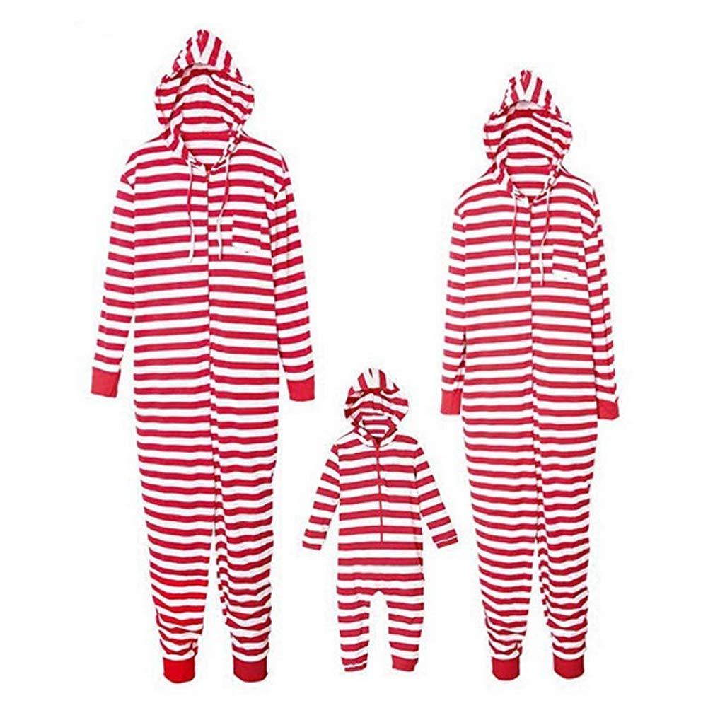 Weihnachten Herren Langarm Kapuzen Schlafanzug Winter Overall Jumpsuit Pyjama