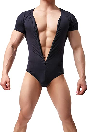 Mens Body Shaping Bodysuit Leotard Jumpsuit Wrestling Singlet Lingerie Underwear