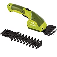 Sun Joe 7.2-Volt 2-in-1 1250-RPM Cordless Grass Shear / Shrubber Handheld Trimmer, Rechargeable On-board Lithium-Ion…