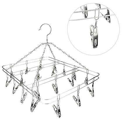 26 Clips Hanger Clothes Drying Sock Bra Underwear Undies Hanging