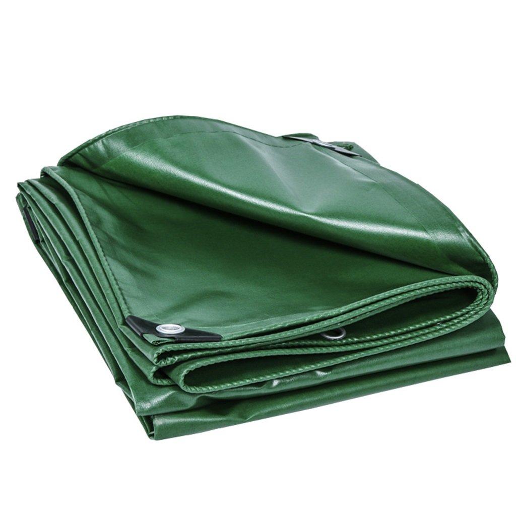 Zelt Zubehör Plane Planen-Blatt-Tarps Multifunktionsponcho für kampierendes Fischen-im Garten arbeitender Sonnenschutz-Kältewiderstand, Stärke 0.33MM, 420G / m², 16 vorhandene Größe, grün Idee für Cam