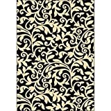 Furniture of America Shenelle 5'3'' x 7'6'' Rug in Black and Ivory
