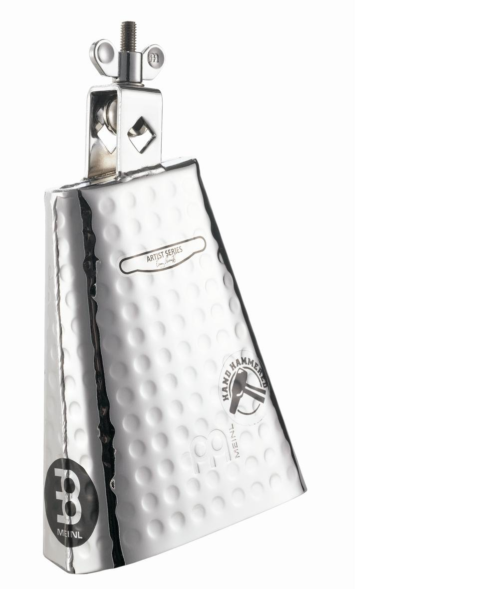 Meinl Percussion KA625 Kenny Aronoff Signature Hand Hammered Steel Cowbell With Chrome Finish, 6 1/4-Inch Meinl USA L.C.
