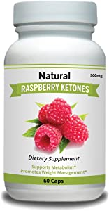 Natural Raspberry Ketones Dietary Capsules 500mg 100% Pure Fast Weight Loss Diet Pills, Energy Boost Health Supplement