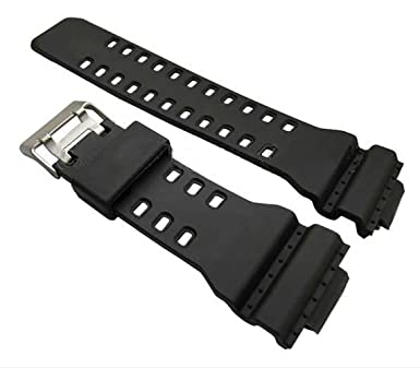 Ga 100 Black Rubber Replacement Watch Strap For Casio G Shock Ga100 Generic Strap