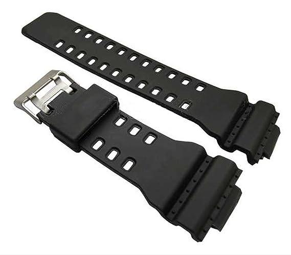 Correa de repuesto para reloj Casio G Shock GA100, de goma, color negro: Amazon.es: Relojes