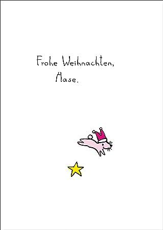 Weihnachten Bilder Mit Text.Süße Weihnachtskarte Mit Weihnachts Hasen Und Stern Frohe