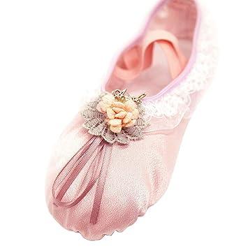 official photos 88d1a 6278c HAPPY CHERRY Ballettschuhe Mädchen Schläppchen Damen Satin ...
