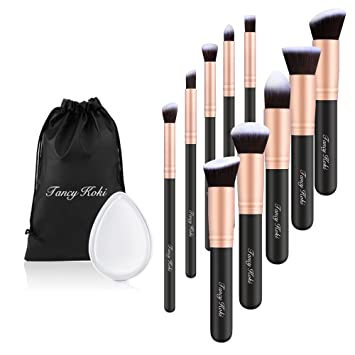 Professional Cosmetic Makeup Brushes Set- 10 Pieces-Kabuki Face Powder Foundation Brushes Soft...
