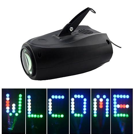 Mini 64 LEDs RGBW Activo Sano 24 Patrones Enrejado Xmas Halloween ...