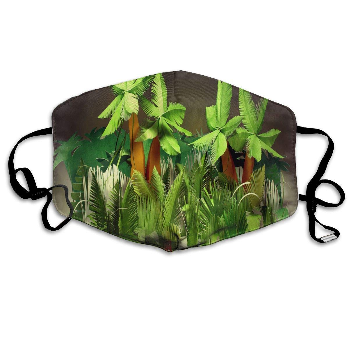 Large Palm Leaf Wallpaper,Surgical Mask Winter Healthy Washable for Unisex Christmas Mouth Masks by Liayai7.