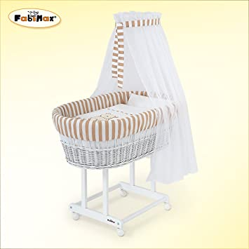 Baby Ausstattung Himmelset Nestchen Steppdecke für Stubenwagen Design Streifen