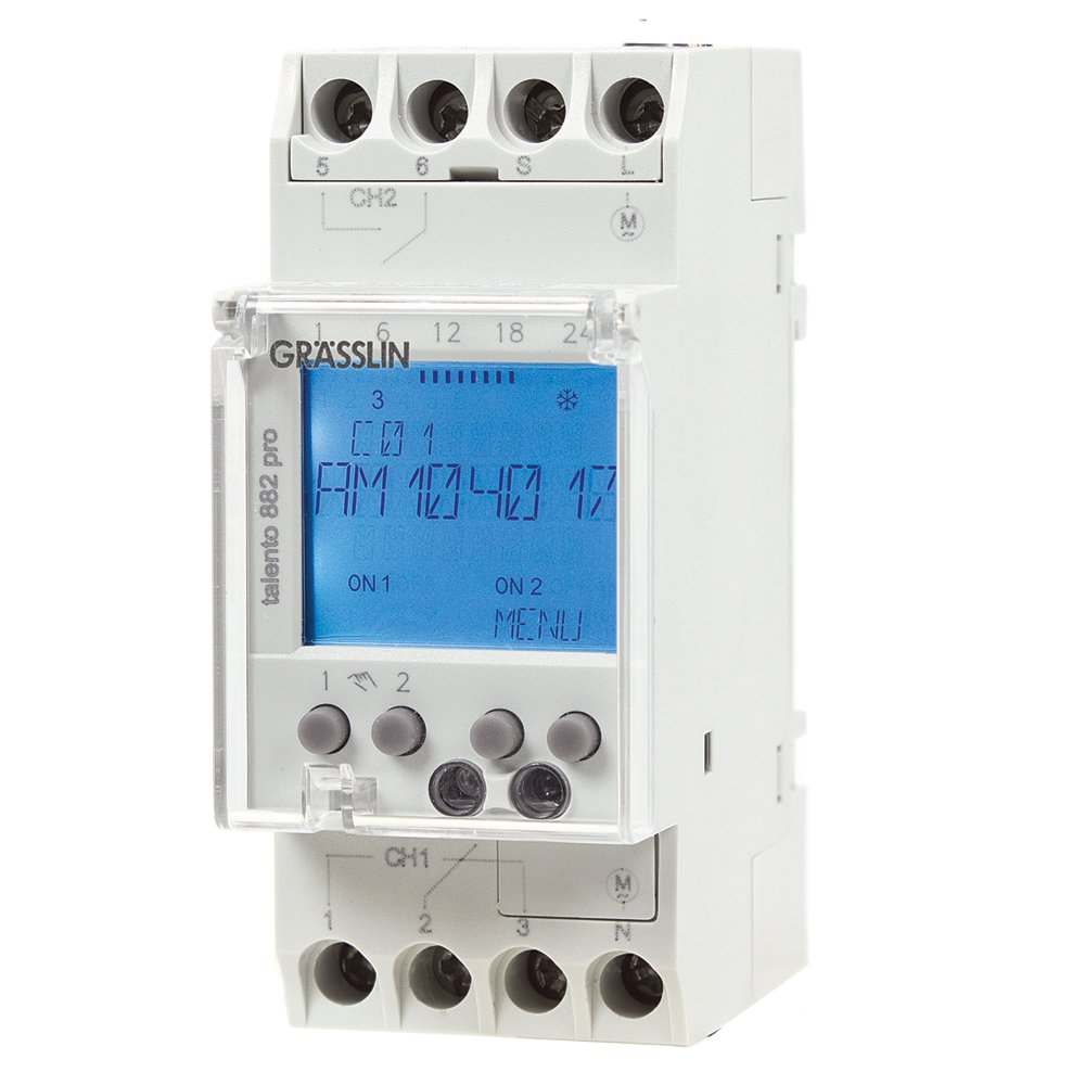 365 Day Timer With Override Switch Wiring Diagram 49 Dual Intermatic Time Clock Sl1000 Talento 882 Digital Din Rail Mount