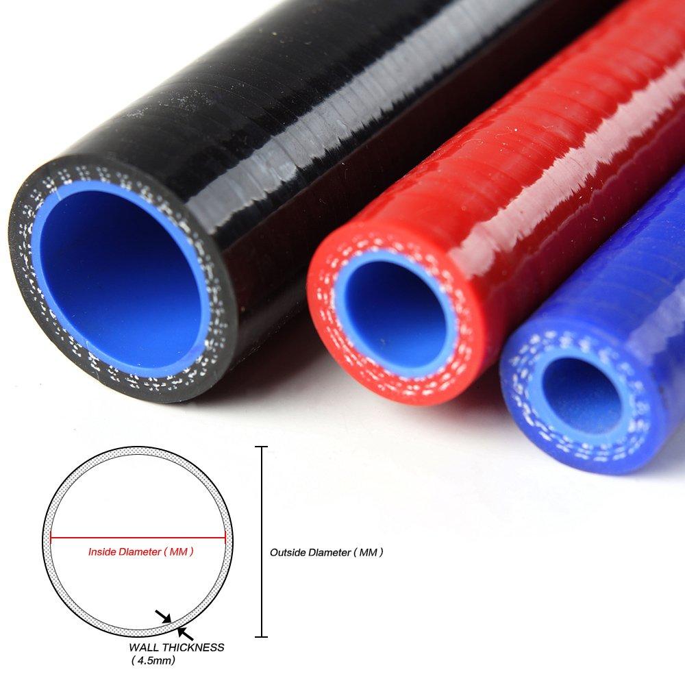 Silicone Turbo Intake Induction Hose Kit For SAAB-9000 SAAB 9000 Black