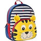 Toddler Backpack, 3D Cute Cartoon Neoprene Animal Waterproof Preschool Backpack for Boys for 1-6 Years Boys, Tiger