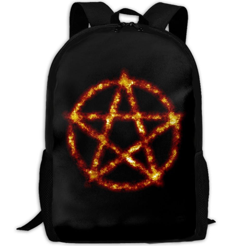Satan Evil Symbol Double Shoulder Backpacks For Adults Traveling Bags Full Print Fashion