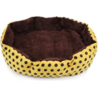 Soft Pet Bed Cat Bed Nest for Little Dogs and Cats yellow (40 * 32cm)