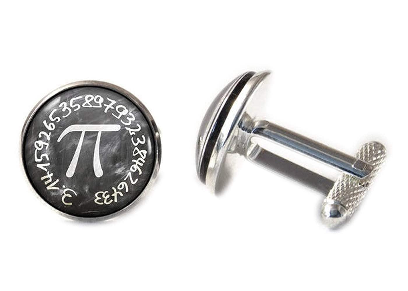 Pi Nombre de manchette cadeaux de science Geek Bijoux Maths Boutons de manchette