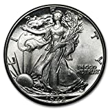 1942 Walking Liberty Half Dollar BU Half Dollar Brilliant Uncirculated