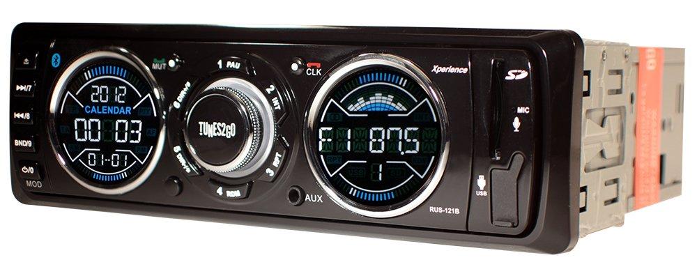 Black Tunes2Go RUS-121B Digital Car Media Player//Receiver Unit with Bluetooth Handsfree