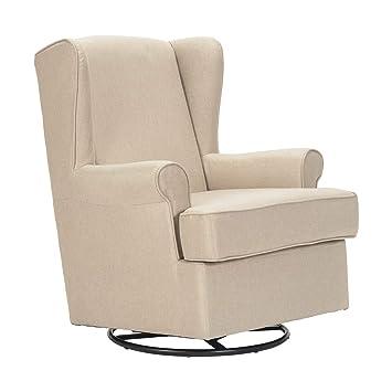 poltrone-italia - sillón Mecedora con Base giratoria y PUF y ...