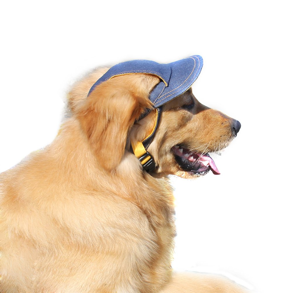 Bwogue Jeans Adjustable Pet Dog Sport Baseball Outdoor Sun Protection Hat/Cap for Large Small Pet