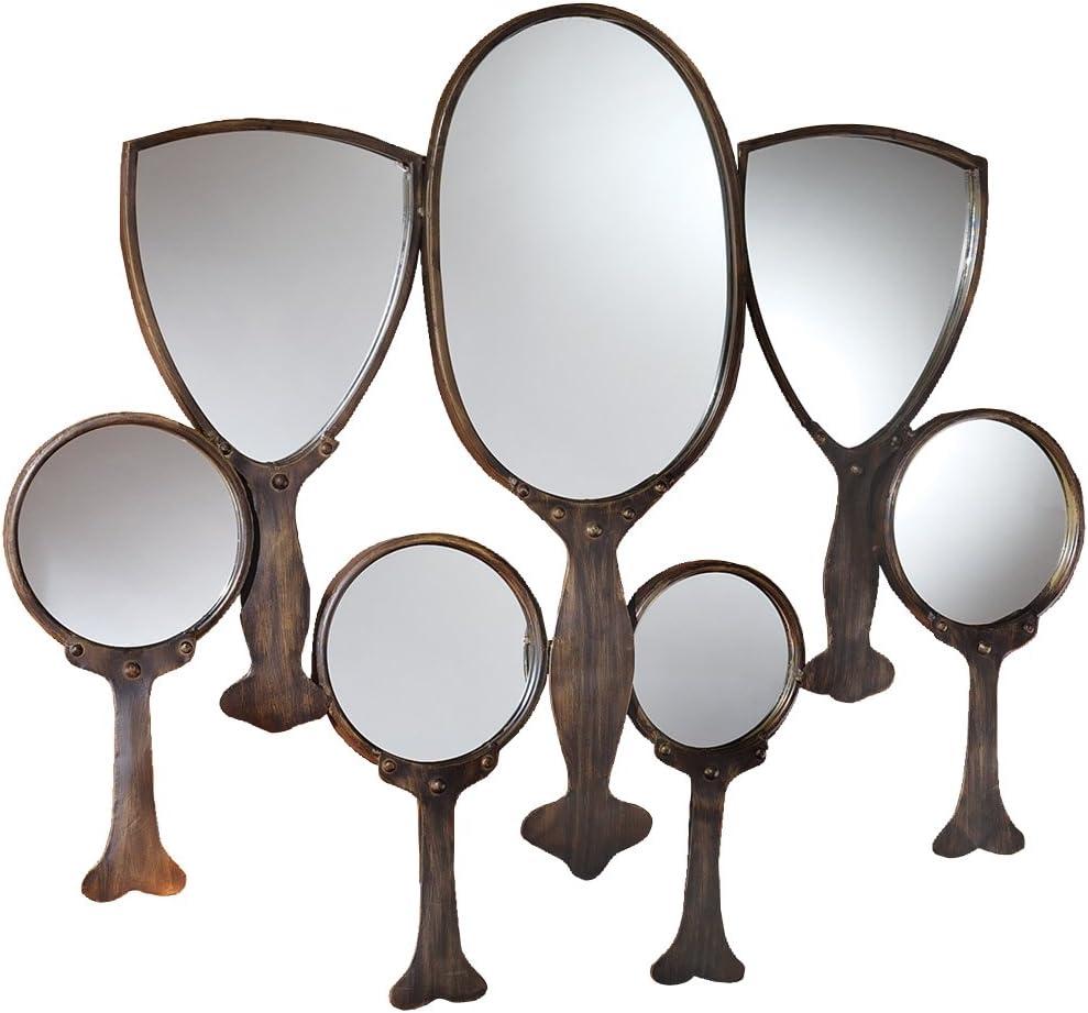Design Toscano Reflective Gaze Hand Mirror Wall Sculpture