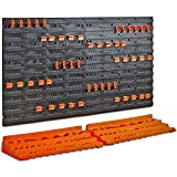 VonHaus 50 Piece Wall Mounted Plastic Pegboard