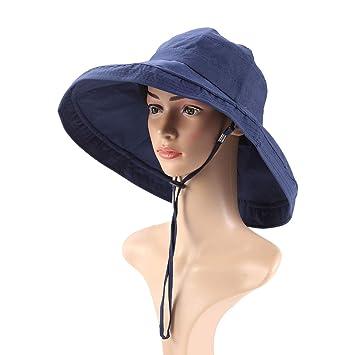 BESPORTBLE Pescador Playa Sombrero para el Sol Mujer Damas Verano ...