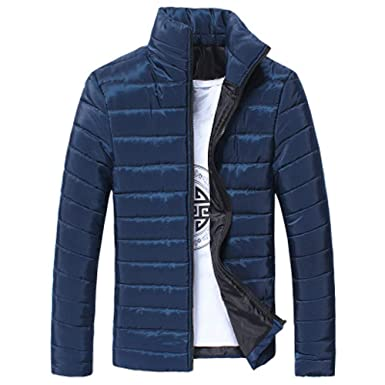 OHQ Chaqueta Hombres Boys Casual Warm Stand Collar Slim Invierno Zip Coat Outwear Jacket Sudadera Tops Camisa Abrigo Ropa: Amazon.es: Ropa y accesorios