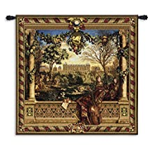 "Fine Art Tapestries ""Le Chateau De Monceau Wool"" Wall Tapestry"