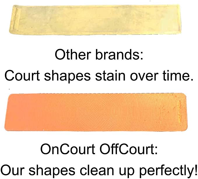 Set of 12 Foot Prints//Tennis Training Aid Oncourt Offcourt Foot Prints Court Shapes