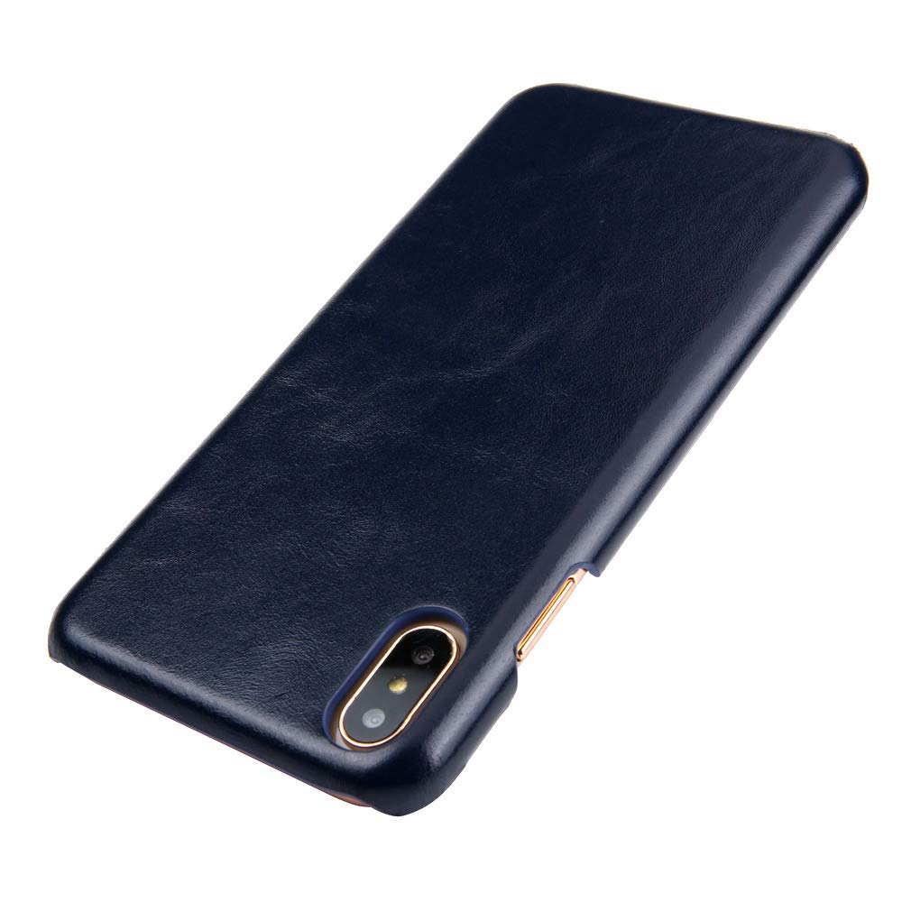 Amazon.com: iPhone X funda, reginn piel auténtica Slim Fit ...