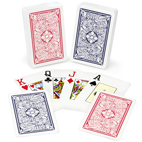 (Copag Class Legacy 100% Plastic Playing Cards, Bridge Size, Jumbo Index)
