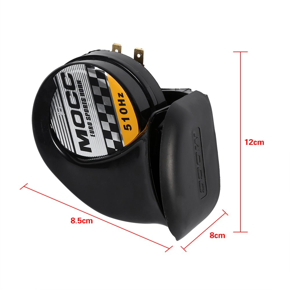 Waterproof High Low Sound Electric Snail Horn Air Horn 12V for Motorcycle Auto Car Scooter 115DB 510Hz Snail Siren Horn Speaker