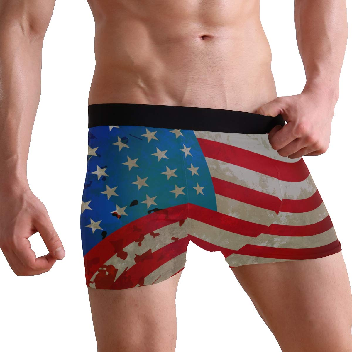 DongDongQiang 4 July Independent Day Mens Boxer Briefs Underwear
